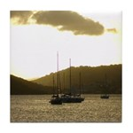 Sunset Sail Tile Coaster