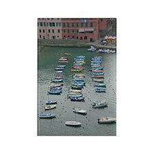 Cinque Terre Boats Rectangle Magnet