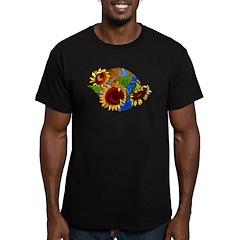 Sunflower Planet Men's Fitted T-Shirt (dark)