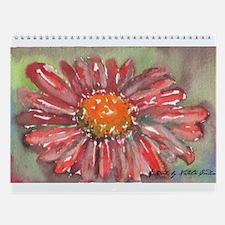 Funny Red flower Wall Calendar