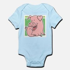 Cute Cartoon Piggy Infant Creeper