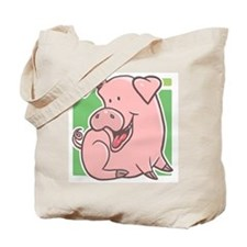 Cute Cartoon Piggy Tote Bag