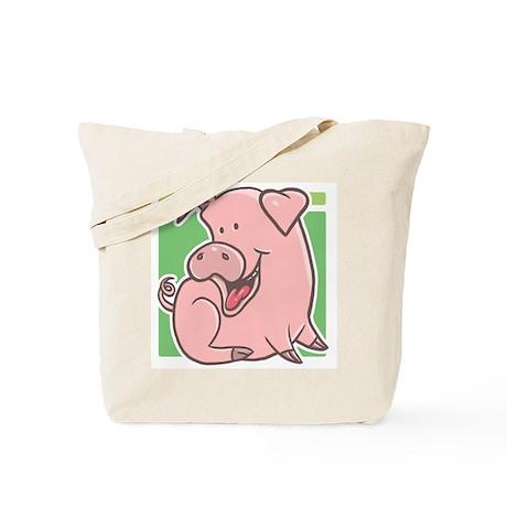 Cute Cartoon Piggy Tote Bag