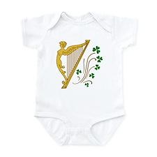 Lady Harp And Shamrocks Infant Bodysuit