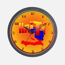 HAITI LOVE Wall Clock