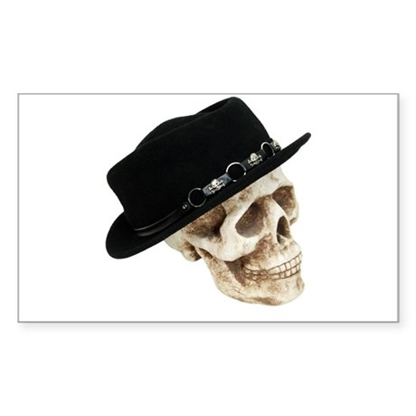 Mr. Cool Hat Rectangle Sticker 50 pk)
