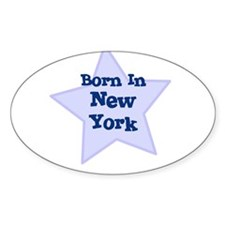 Born In New York Oval Decal