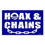 HOAX & CHAINS Rectangle Sticker