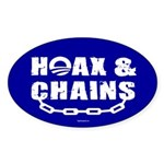 HOAX & CHAINS Oval Sticker (50 pk)
