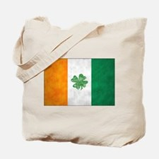 Irish Shamrock Flag Tote Bag