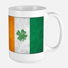 Irish Shamrock Flag Large Mug