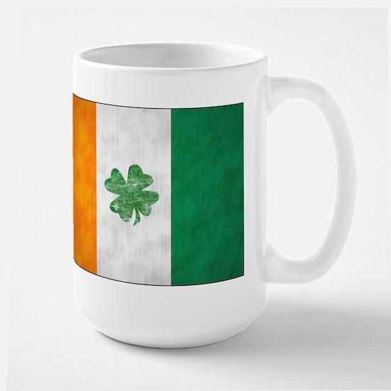 Irish Shamrock Flag Large Mug