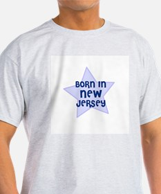 Born In New Jersey  Ash Grey T-Shirt