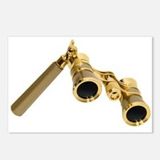 Opera Glasses Gold Postcards (Package of 8)