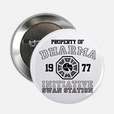 """Property of Dharma - Swan 2.25"""" Button"""