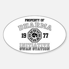 Property of Dharma - Swan Oval Decal