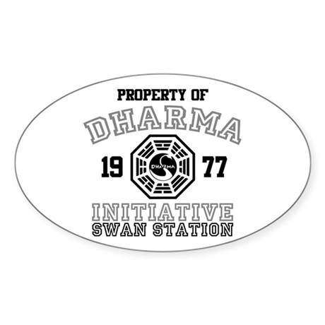 Property of Dharma - Swan Oval Sticker