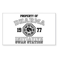 Property of Dharma - Swan Rectangle Decal
