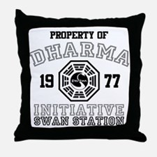 Property of Dharma - Swan Throw Pillow