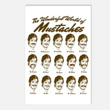 World of Mustaches Postcards (Package of 8)