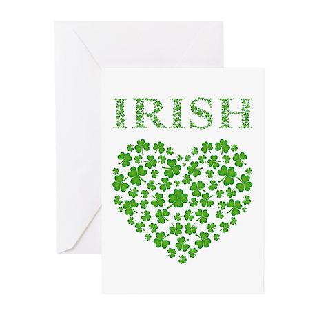 IRISH SHAMROCK HEART Greeting Cards (Pk of 10)