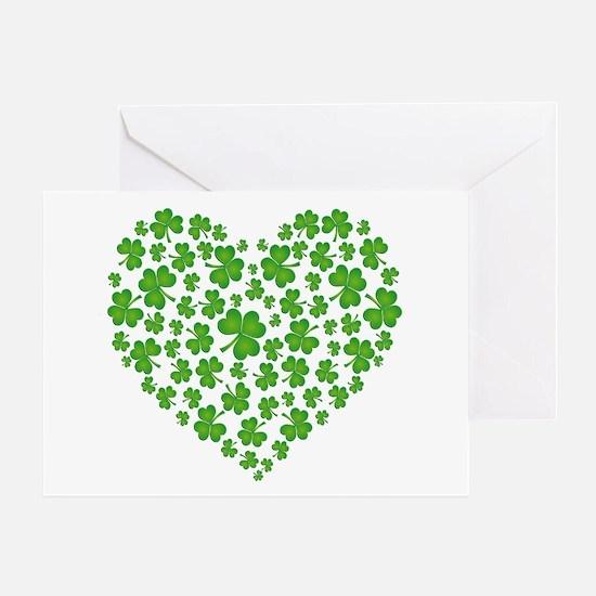 MY IRISH SHAMROCK HEART Greeting Card