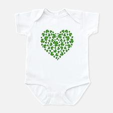 MY IRISH SHAMROCK HEART Infant Bodysuit