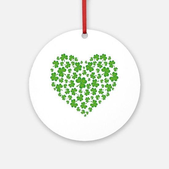 MY IRISH SHAMROCK HEART Ornament (Round)