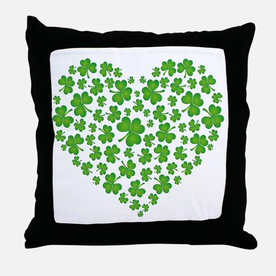 MY IRISH SHAMROCK HEART Throw Pillow