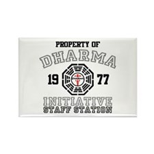 Property of Dharma - Staff Rectangle Magnet