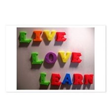 Live Love Learn Postcards (Package of 8)