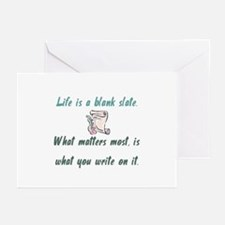 Blank slate Greeting Cards (Pk of 10)