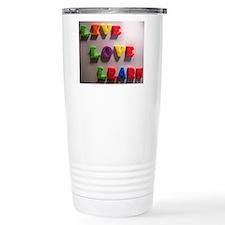 Live Love Learn Travel Mug