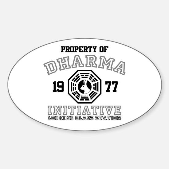 Property of Dharma - Looking Glass Oval Decal