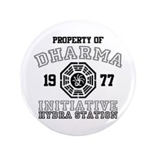 """Property of Dharma - Hydra 3.5"""" Button"""