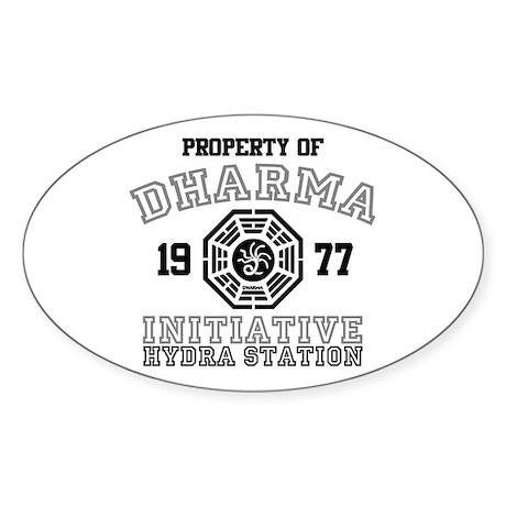 Property of Dharma - Hydra Oval Sticker (10 pk)
