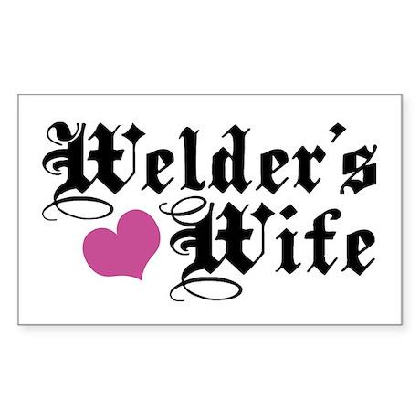 Welder's Wife Rectangle Sticker