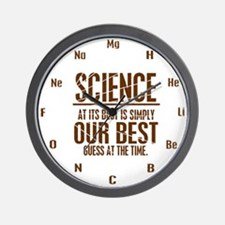 Science at Its Best Wall Clock