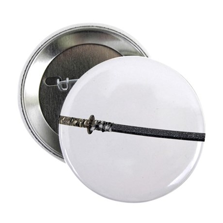 "Samurai Sword Side View 2.25"" Button (10 pack)"