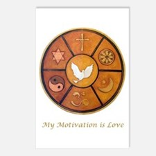 """""""My Motivation is Love"""" Postcards (Package of 8)"""