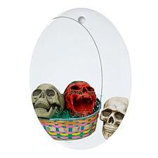 Skull Basket 3 Oval Ornament