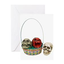 Skull Basket 3 Greeting Card
