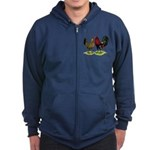 American Gamefowl Pair Zip Hoodie (dark)