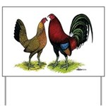 American Gamefowl Pair Yard Sign