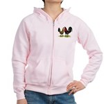 American Gamefowl Pair Women's Zip Hoodie