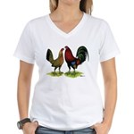 American Gamefowl Pair Women's V-Neck T-Shirt