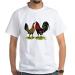 American Gamefowl Pair White T-Shirt