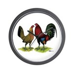 American Gamefowl Pair Wall Clock