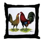 American Gamefowl Pair Throw Pillow