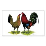 American Gamefowl Pair Rectangle Sticker
